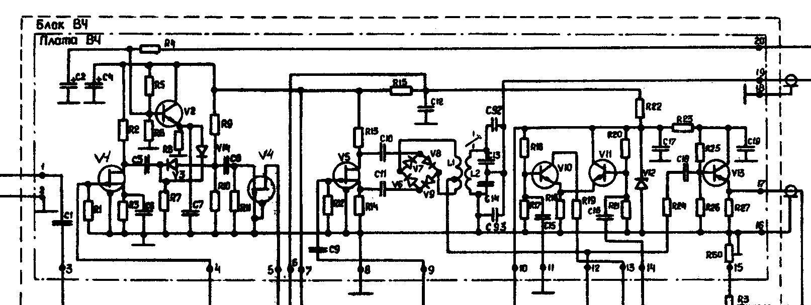 принципиальная схема радио приёмника альпинист 321
