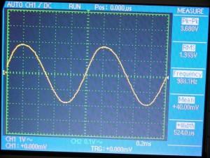 Выходной сигнал модулятора 1000 Гц US5MSQ
