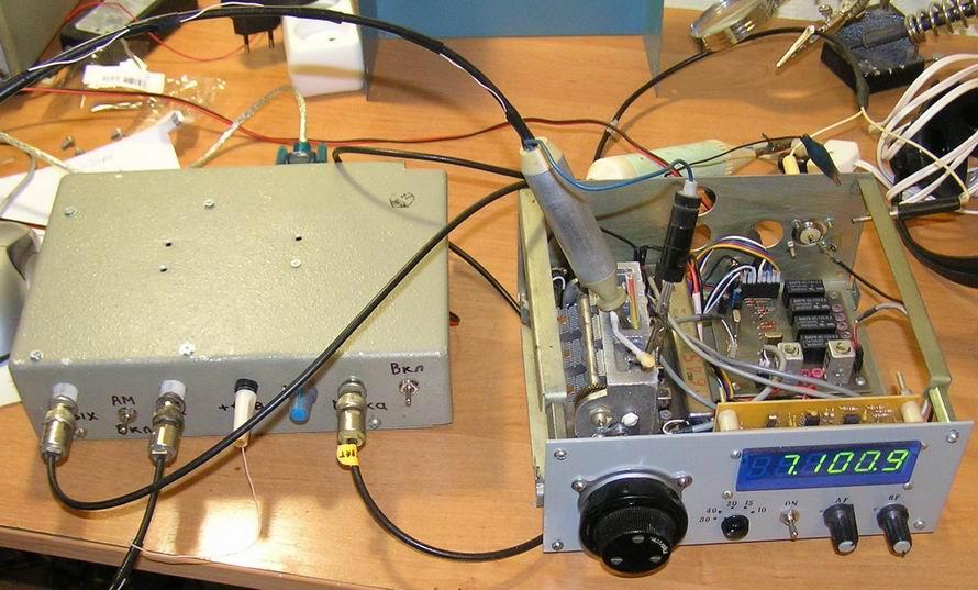 Проверка сопряжения контуров приемника с ЭМФ 200 кГц US5MSQ